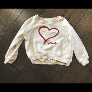 Zara girls pullover sweatshirt Sz 6